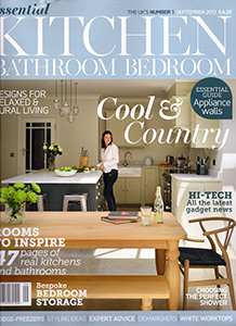 Cover for Press in Sept 2013 edition of Essential Kitchen, Bathroom & Bedroom Magazine