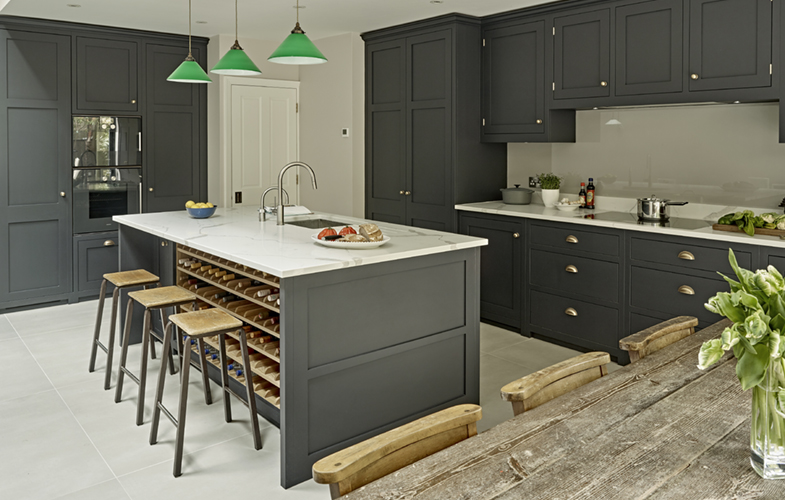 dark grey kitchen design  battersea