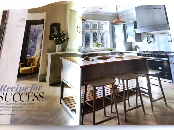 First page of Brayer's Surbiton Kitchen 11 page feature in EKBB July 2016