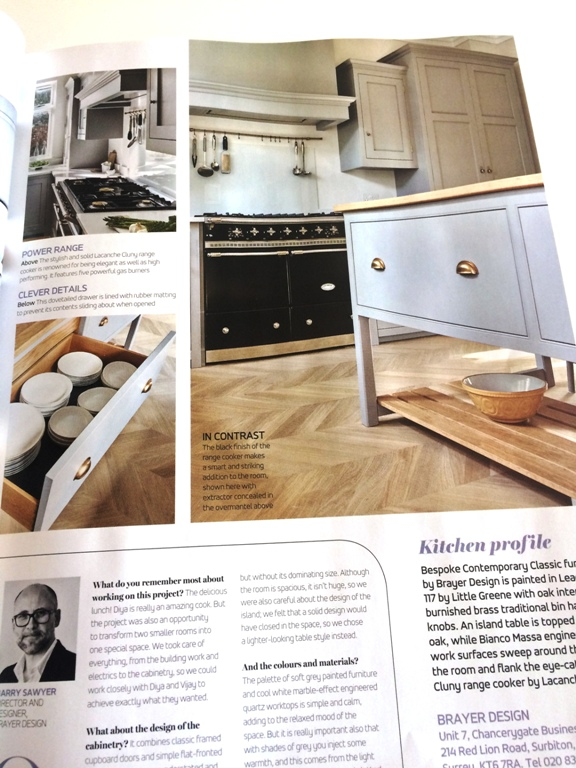 Interview page with Barry Sawyer in Brayer's Surbiton Kitchen feature in EKBB July 2016