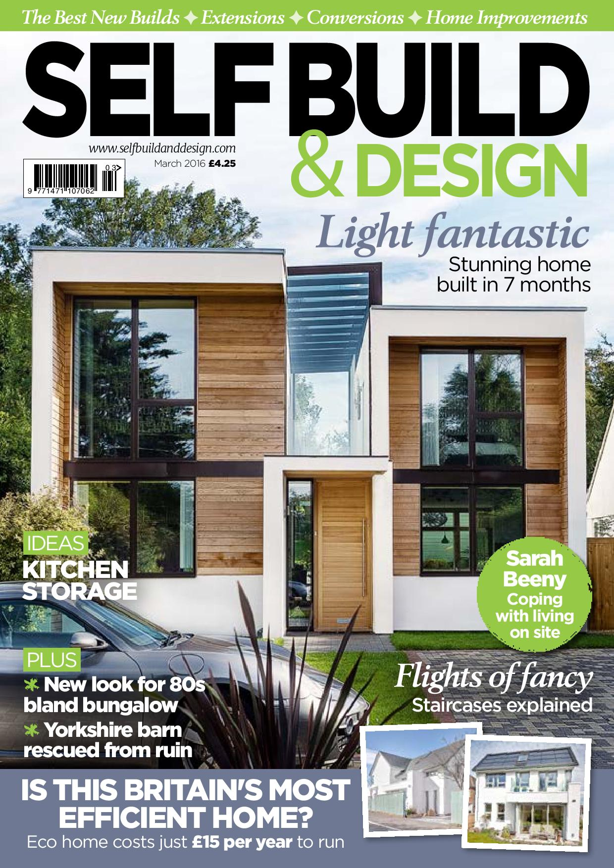 House design magazines uk - Self Build Design Magazine Cover March 2016 Issue