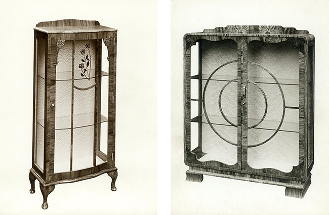 Cabinet designs by William Brayer who founded Brayer Design in 1918